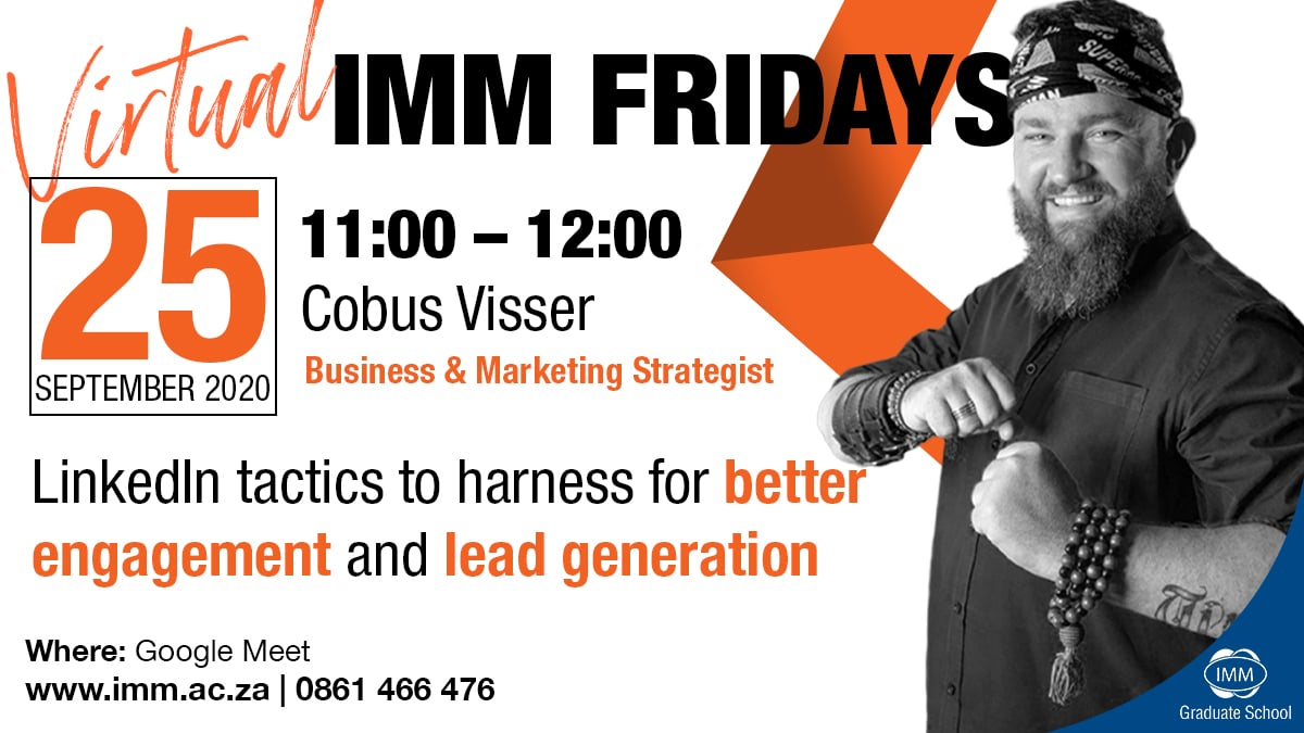 IMM Friday Cobus Visser twitter
