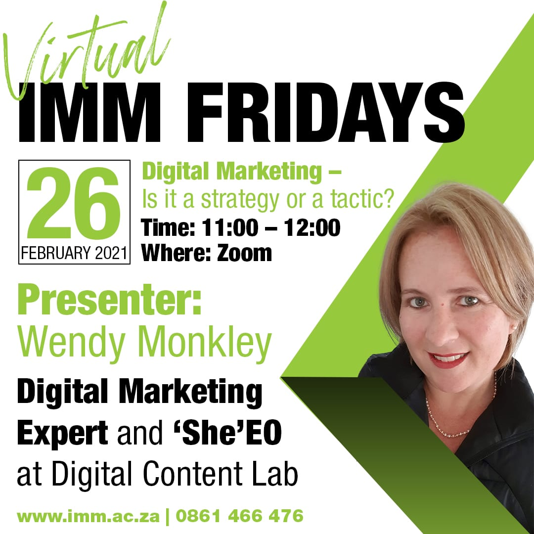 IMM Friday - Wendy Monkley - 26 Feb 2021