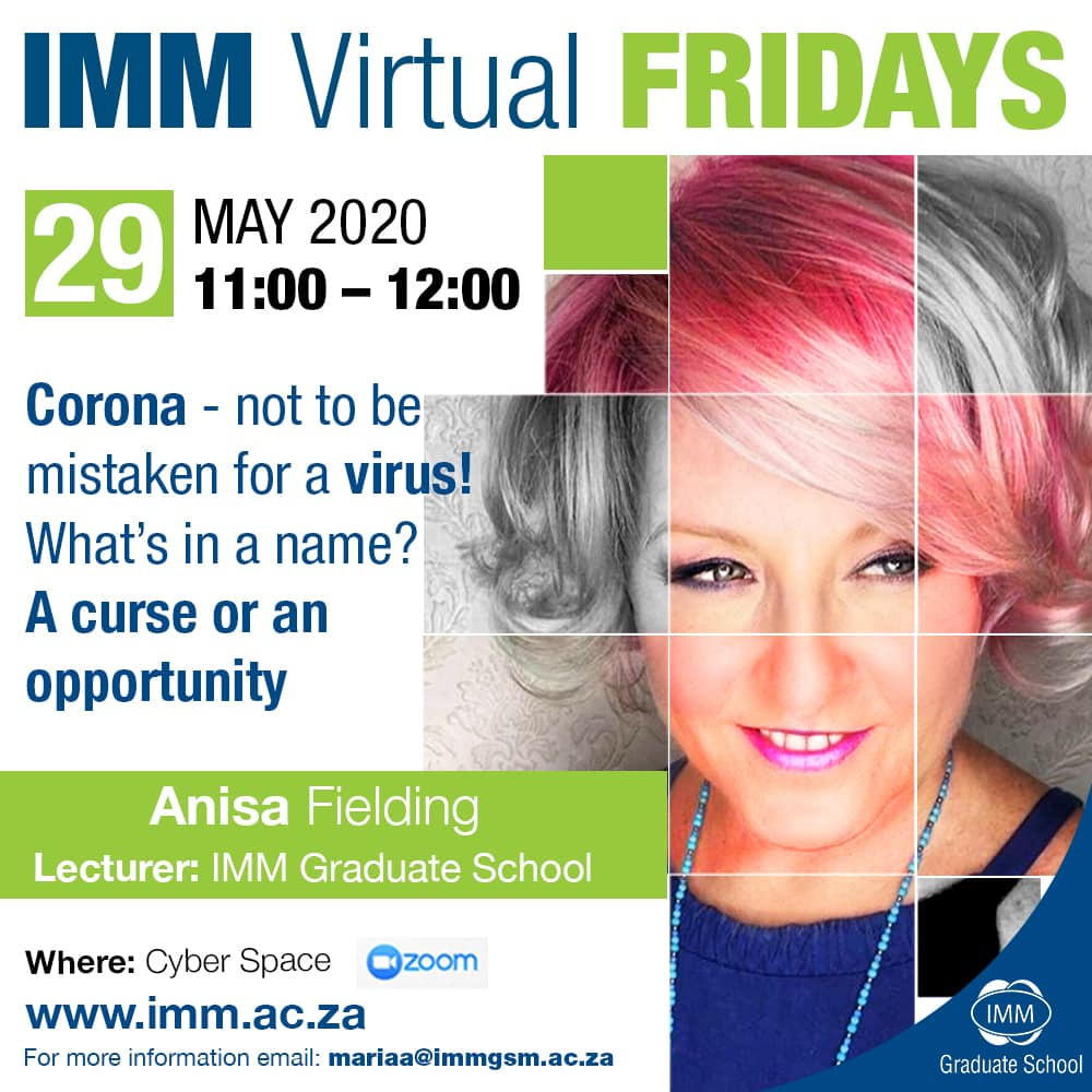 IMM Fridays Fridays - Anisa Fielding