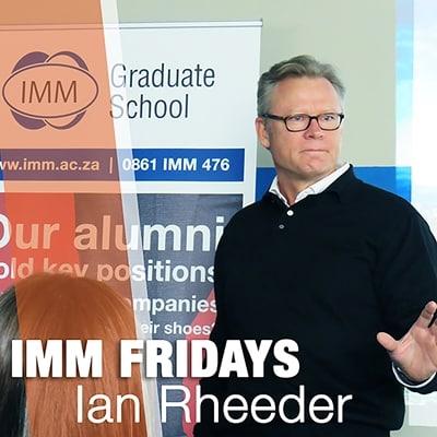 IMM Fridays - Ian Rheeder