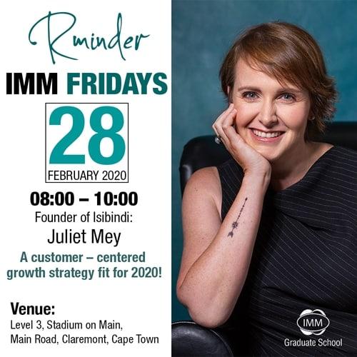 IMM Fridays Juliet Mey