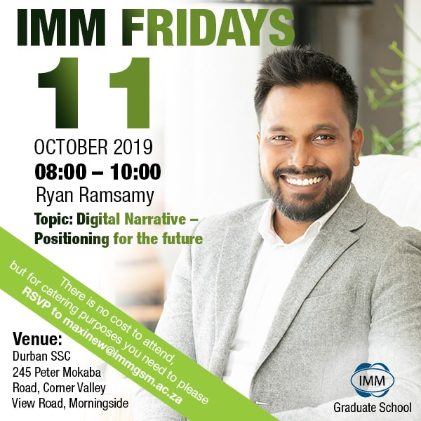 IMM Fridays - Ryan Ramsamy
