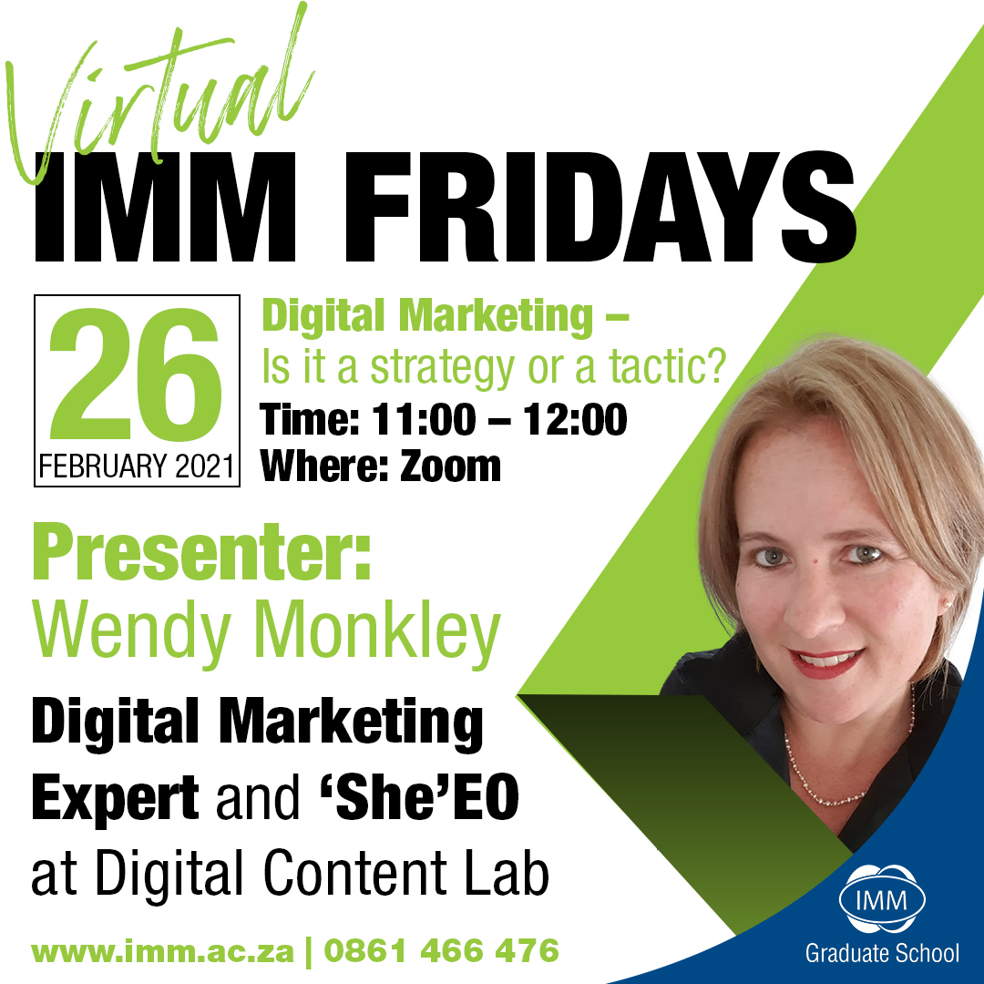 Virtual IMM Friday - 26 February 2021 - Wendy Monkley