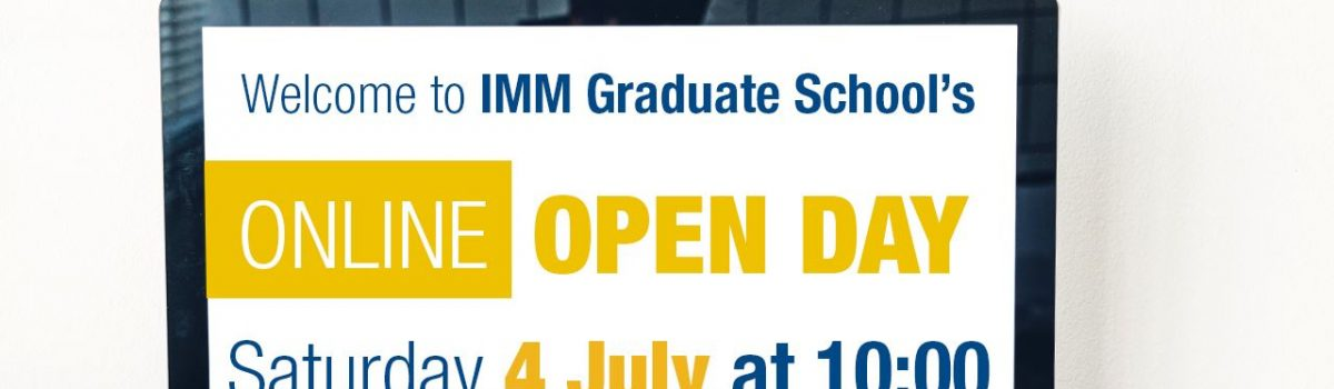 IMM Graduate School Online Open Day – 4 July 2020