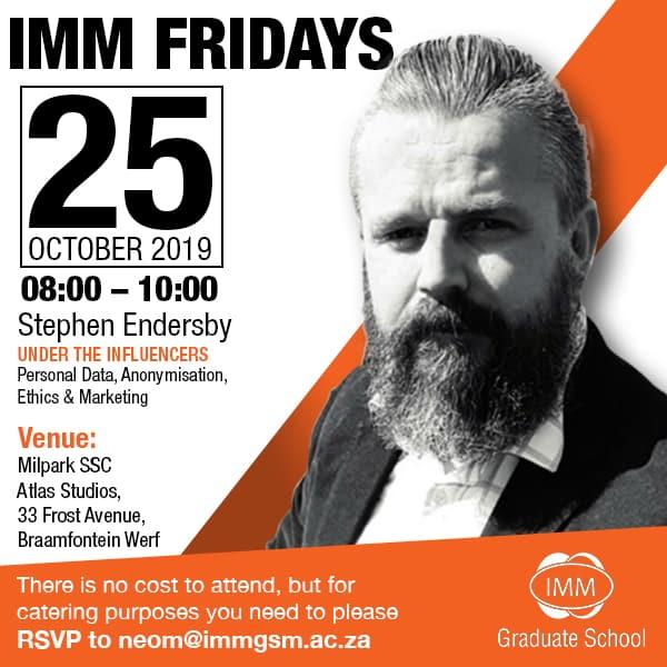 IMM Fridays - Stephen Endersby