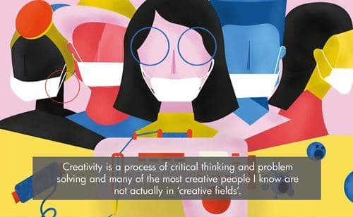 Creativity is a process of critical thinking and problem solving